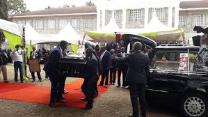 Moi follows son's burial in state of art Range Rover at graveside