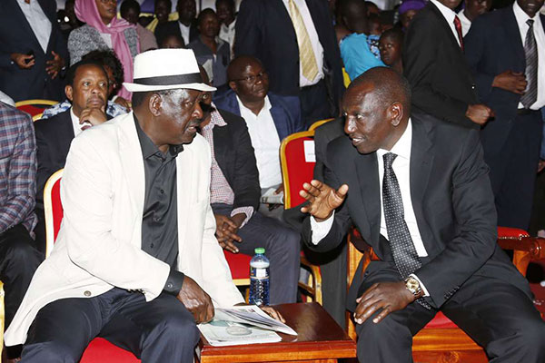 raila ruto - Jubilee must break,Raila goes offensive on DP Ruto