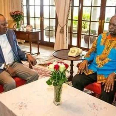 Uhuru meets Moi in Kabarak